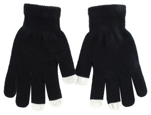 Touch Screen Friendly Full Finger Magic Stretch Black Gloves Free Shipping