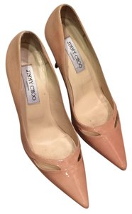 Jimmy Choo Stiletto Nude patent leather Pumps