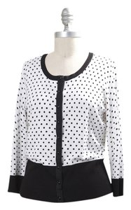 White House | Black Market Flirty Feminine Polka Dot Sweater