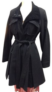 Laundry by Shelli Segal Wool Swing Belted Military Coat