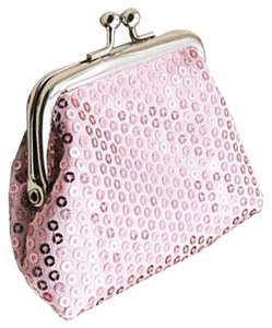 Light Pink Sequin Change/Coin Purse Free Shipping