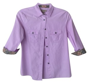 Burberry Button Down Shirt Lilac
