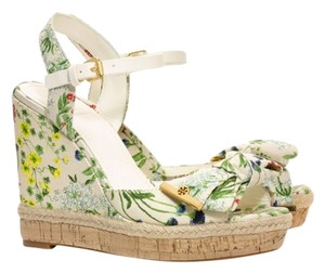 Tory Burch Sandals Floral Multicolor Wedges