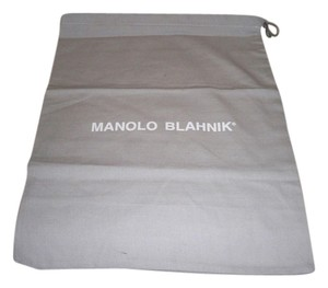 Manolo Blahnik Dust Tote in Grey with white Logo