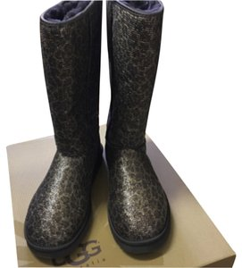 UGG Australia Leopard Glitter in Brown and Black Boots