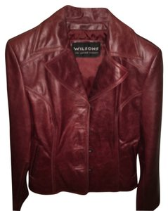 Wilsons Leather Reddish-brown Leather Jacket