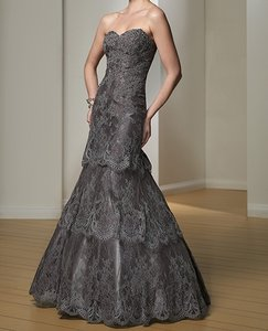 Montage By Mon Cheri Pewter, Champagne, Cocoa 212978 Dress