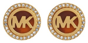 Michael Kors Michael Kors MK Logo Gold-Tone Stud Earrings MKJ2943710