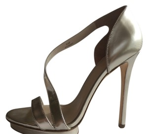 Brian Atwood Heel Metallic Silver Formal
