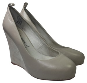 Jeffrey Campbell Gray White Wedges