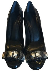 Burberry Heels Patent Leather Blac Pumps