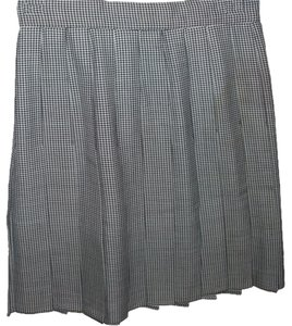 Plaid Pleated Skirt Herringbone