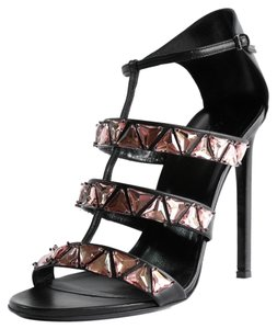 Gucci Women's Strappy Heels Strappy Strappy Heels Tradesy Tradesy 364930 Beaded Leather Ankle Strap High Heel Strappy Black Sandals