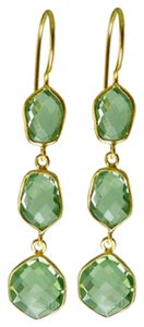 Independent Clothing Co. Green Amethyst Triple Drop Earrings