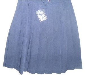 stringbean Golf Pleated Mini Short A-line Skirt blue