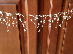 2 Strands Garland Ivory Pearl Stones & Pearls