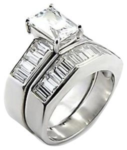 Other New Size 6, 3 CT Rhodium Plated CZ Wedding Set