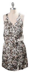 Greylin short dress pastel Silky Abstract Print Faux-wrap on Tradesy