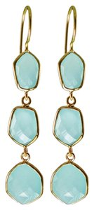 Independent Clothing Co. Peruvian Chalcedony Triple Drop Earrings