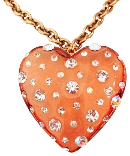 Preload https://item3.tradesy.com/images/betsey-johnson-gold-colored-chain-lucite-crystal-rhinestone-heart-charm-pendant-necklace-1157797-0-0.jpg?width=440&height=440