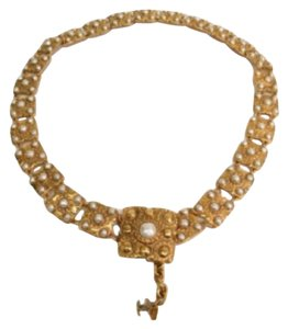 Chanel Chanel Vintage Gold And Pearl CC Charm Waist Belt