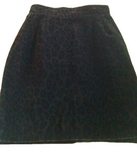 Vertigo Paris Mini Skirt Brown/Black Velvet