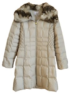 Laundry by Shelli Segal Down Quilted Faux Fur Coat