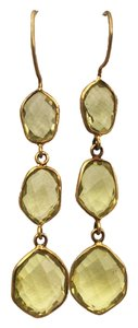 Independent Clothing Co. Lemon Quartz Triple Drop Earrings