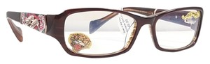 Ed Hardy ED HARDY EHO 719 Eyeglasses Color Brown ~ Size 52 mm
