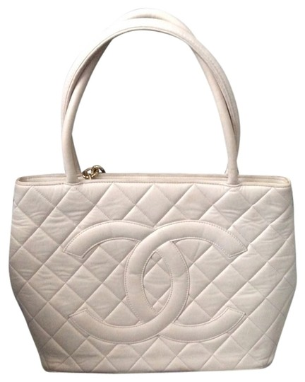 Chanel Medalion Iconic Piece 24 K Gold Plated Hardware Tote in Lush