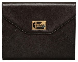 Michael Kors NEW TAGS!!! WORK BLACK APPLE IPAD TABLET LEATHER CLUTCH CASE!