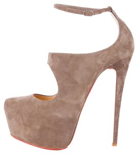 Christian Louboutin Tan Nude Suede Leather Beige Boots