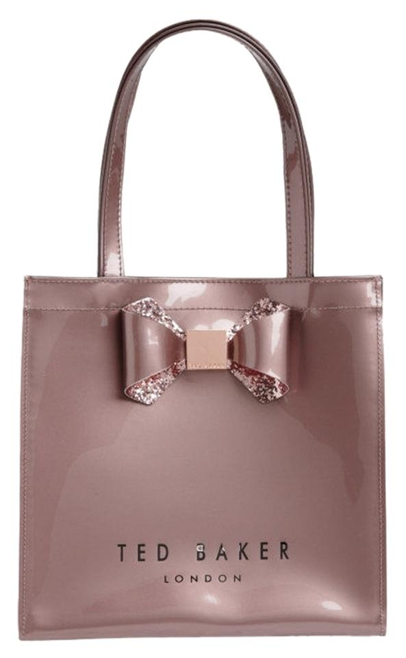 596dc72be2970 Ted Baker London Crystal Glitter Bow Small Icon In Pink Pvc Tote ...