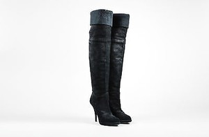 Givenchy Suede Knit Top Black Boots