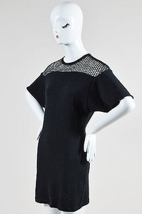 Isabel Marant short dress Black Knit Crochet Pleated Short Sleeve Tunic on Tradesy