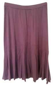 TravelSmith Soft Elastic Pleated Comfortable Skirt Plum