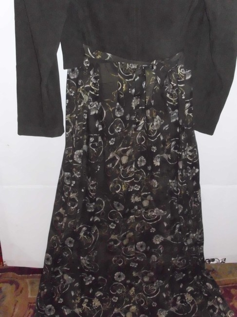 Name Brand Military Embroiderd Suede Boho Paisley Dress