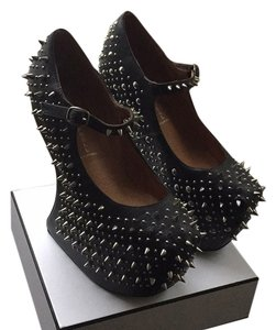 Jeffrey Campbell Goth Studs Studded Black Platforms