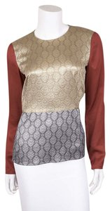 Stella McCartney Top Gold Burnt Orange Silver