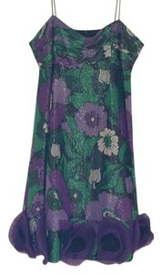 Anthropologie short dress Green, Purple Multicolor on Tradesy
