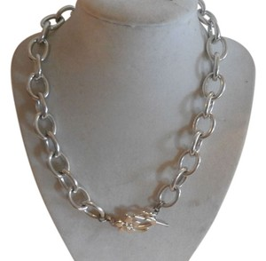 Other VINTAGE GERGEOUS SILVER TONE CHAIN NECKLACE