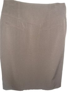 Grace Elements Pencil Mad Men Tailored Skirt Brown