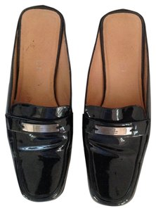 Gucci Black Patent Leather Mules