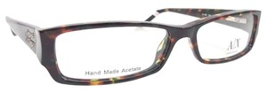 Giorgio Armani ARMANI EXCHANGE 224 Eyeglasses Color YEC Havana Green ~ Size 52 mm