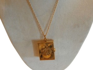 VINTAGE GOLDTONE LOCKER NECKLACE