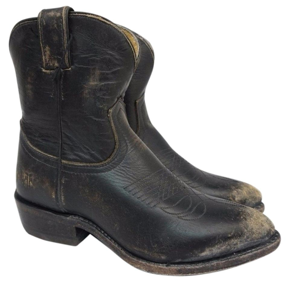 f051def9eb7 Frye Black Women's Billy Short Distressed Leather Boots/Booties Size US 6.5  Regular (M, B)