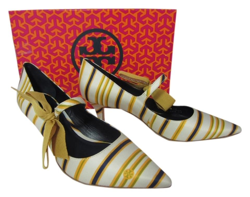 Tory Burch In Multicolor Beverly Low Heel In Burch Marin Stripe Pumps a26f08