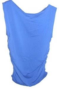 Hennes Collection Shirred Draped Bodycon Bright Sexy Top blue