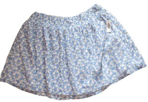 Old Navy Cotton Xl Floral Skirt Blue print