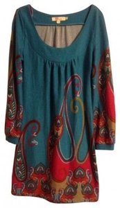 Aryeh short dress Blue with Paisley Print on Tradesy